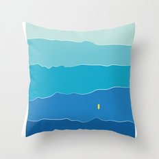 Layers of Waves Throw Pillow