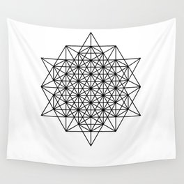 Star tetrahedron, sacred geometry, void theory Wall Tapestry