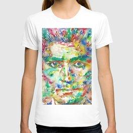 FRANZ KAFKA - watercolor portrait.2 T-shirt