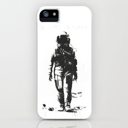 Astronaut cleaning the space iPhone Case