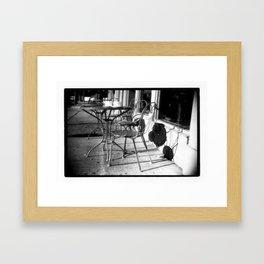 Sidewalk Cafe Framed Art Print