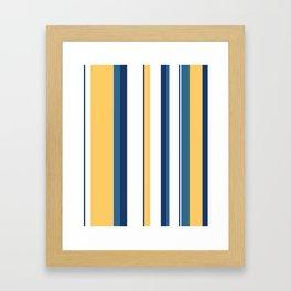 Vintage 1950s stripes Framed Art Print