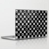 kingdom hearts Laptop & iPad Skins featuring Kingdom Hearts Grid by KewlZidane