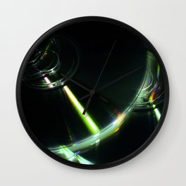 Stack of Compact Discs Abstract 7 Wall Clock