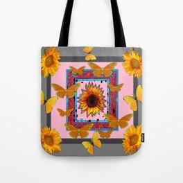 SOUTHWEST ART BUTTERFLIES SUNFLOWERS Tote Bag
