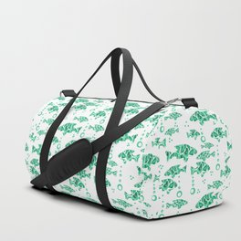 The green fish . Duffle Bag