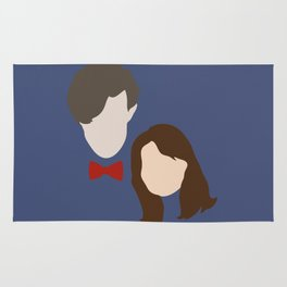 The Eleventh Doctor and the lovely Clara Oswin Oswald Rug