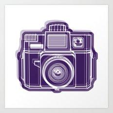 I Still Shoot Film Holga Logo - Deep Purple Art Print