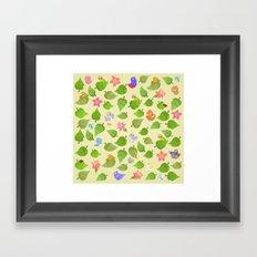 birds&leaves Framed Art Print