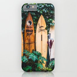 Surfboard Fence iPhone Case