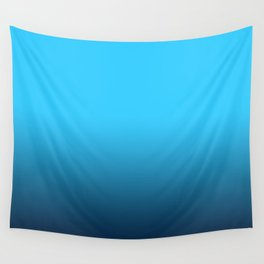 Simply fresh teal blue color gradient - Mix and Match with Simplicity of Life Wall Tapestry