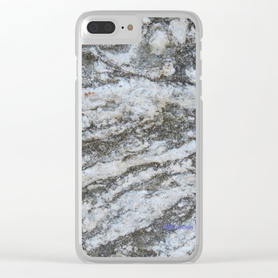 TEXTURES -- Riverstone #1 Clear iPhone Case