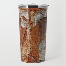 Very old rusty metal wall surface Travel Mug