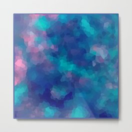 Blue-pink abstract polygonal background Metal Print