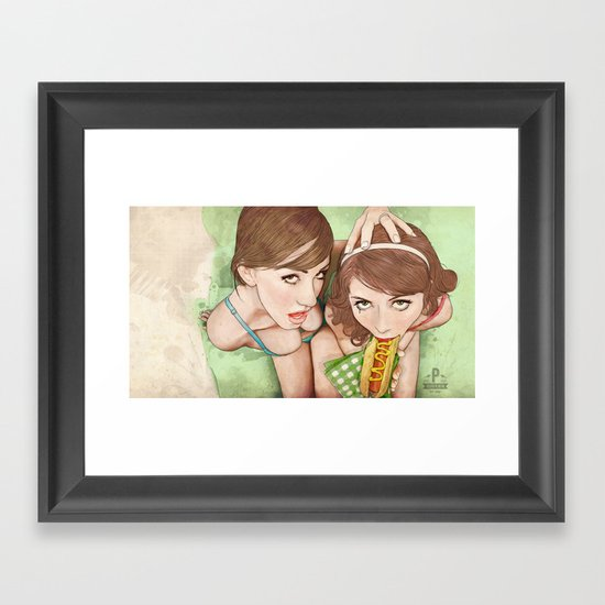Life's a Picnic, Bring Your Friend Framed Art Print