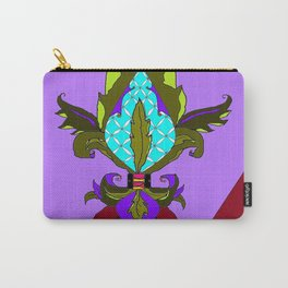 Fleur de lis with Maroon Ribbon and Bow Carry-All Pouch