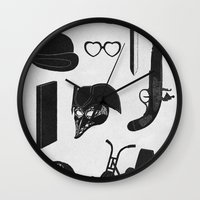kubrick Wall Clocks featuring 2011: A Kubrick Odyssey by Florent Bodart / Speakerine