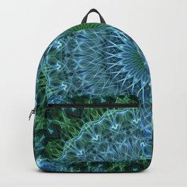 Blue and green mandala Backpack