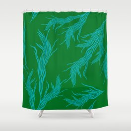 Seventies Feather Shower Curtain