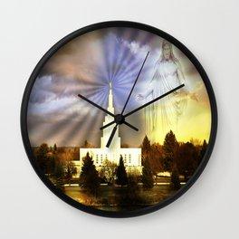 Idaho Falls - I Am With You Wall Clock