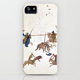The Grotesque Tourney, Hours of Mary of Burgundy iPhone Case