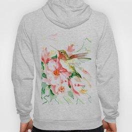 Hummingbird, Hawaiian Design, Hibiscus and Hummingbird Hoody