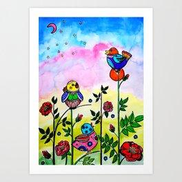 EARLY MORNING BIRDS Art Print