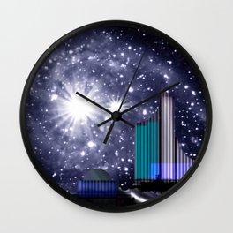 Wonderful starry night. Wall Clock