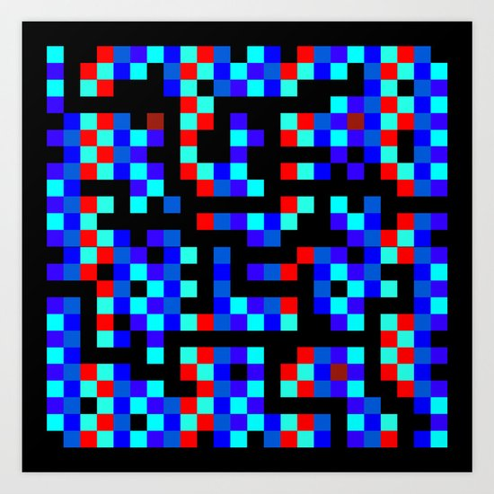 pixel labyrinth Art Print