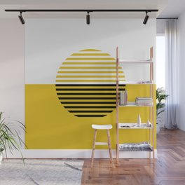 Horizons Geometric Design 3 - Summer Sun Gold Wall Mural