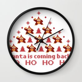 Santa is coming back! Wall Clock