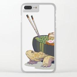 Ramen tortoise Clear iPhone Case