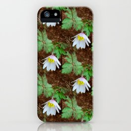 Diagonal rows of nodding flowers iPhone Case