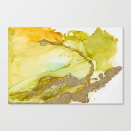 Gold Abstract 3 Canvas Print