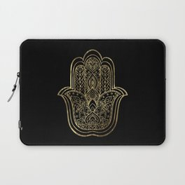 Lotus Gold Hamsa Hand Laptop Sleeve