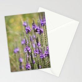 purple wildflowers in green field Stationery Cards