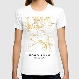 HONG KONG CHINA CITY STREET MAP ART T-shirt