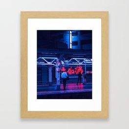 Tokyo Nights / Tokyo Night Train / Neon Cyberpunk Vibes / Liam Wong Framed Art Print