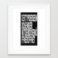 text Framed Art Prints featuring text by woman