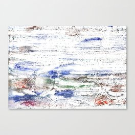 Multicolored clouded wash drawing painting Canvas Print