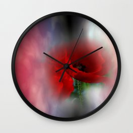 missing poppies -3- Wall Clock