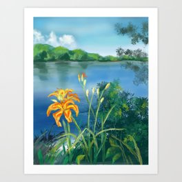 Lillie's on the River Art Print