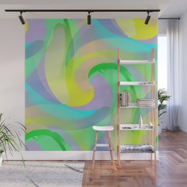 Soft Rainbow Abstract - Painterly Wall Mural