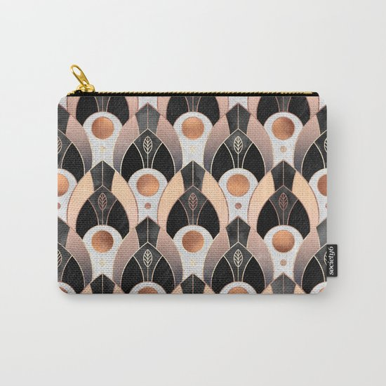 Art Deco Leaves / Version 1 Carry-All Pouch
