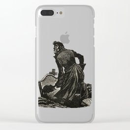 Wuthering Heights Emily Bronte Heathcliff Illustration Clear iPhone Case