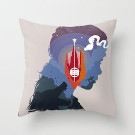 The Many Faces of Cinema: Neverending Story Throw Pillow