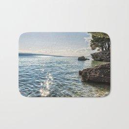Seaside of Riviera Makarska in Croatia Bath Mat