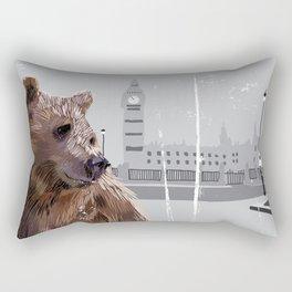 Cityscape Bear Rectangular Pillow