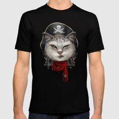 PIRATECAT MEDIUM Black Mens Fitted Tee