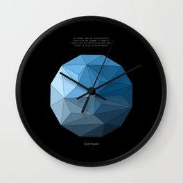 Continuum black Wall Clock